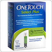 Тест-полоски Ван Тач Селект Плюс 100 штук (OneTouch Select Plus)